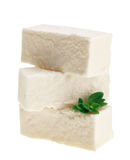 Feta cheese cubes with thyme twig Stock Photography
