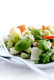 Feta Cheese And Endamame Bean Salad Stock Image