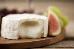 Feta cheese with fig Stock Photography