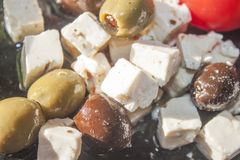 Feta cheese and olives Royalty Free Stock Image