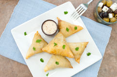 Feta cheese pastries Royalty Free Stock Images