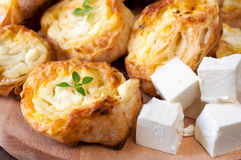 Feta cheese and pastry Royalty Free Stock Photo