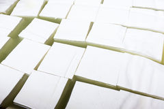 Feta cheese production cubes Royalty Free Stock Photo