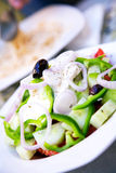 Feta cheese salad Royalty Free Stock Image