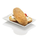 Feta cheese sandwich Royalty Free Stock Photo