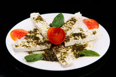 Feta Cheese and Thyme Salad Royalty Free Stock Photography