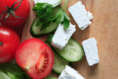 Feta Cheese And Vegetables Stock Image