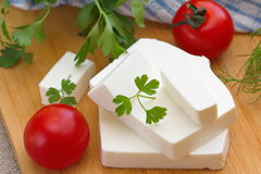 Feta cheese Stock Image