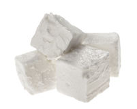 Feta cube Royalty Free Stock Photography
