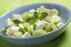 Feta and cucumber salad Royalty Free Stock Images