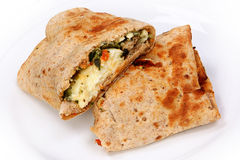 Feta Egg Wrap Stock Photography