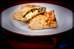 Feta Egg Wrap Royalty Free Stock Images