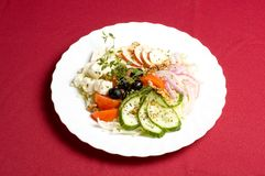 Feta-Käse Salat lizenzfreie stockfotos