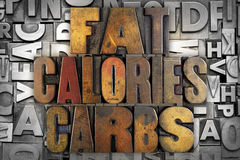 Feta kalorier Carbs Arkivfoto