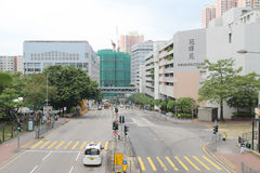 Feta Kwong Street på Ho Man Tin Royaltyfri Bild