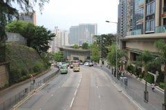 Feta Kwong Street på Ho Man Tin Arkivfoton