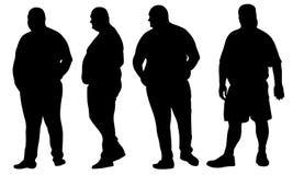 feta män Arkivfoton
