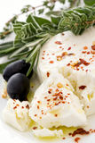 Feta with Olives Stock Photography