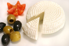 Feta and olives Royalty Free Stock Image