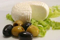 Feta and olives Stock Photos
