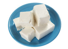 Feta on plate Stock Photo
