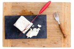 Feta rouge de coupe de couteau Image libre de droits