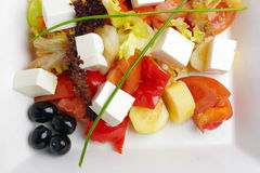 Feta salad with tomatoes Royalty Free Stock Images