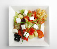 Feta salad with tomatoes Stock Image