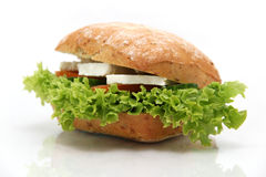 Feta sandwich Stock Photo