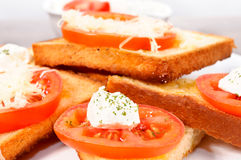 Feta sandwich Royalty Free Stock Image