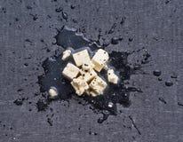 Feta ser na czarnej desce Zdjęcia Stock