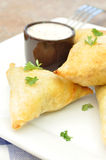Feta and spinach pastries Royalty Free Stock Images