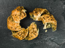 Feta and Spinach Spanakopita Seeded Roll Royalty Free Stock Image