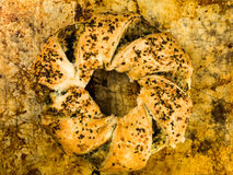 Feta and Spinach Spanakopita Seeded Roll Royalty Free Stock Photography