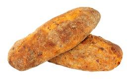 Feta und Tomate Ciabatta-Brot lizenzfreie stockfotografie