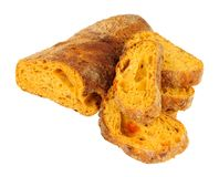 Feta und Tomate Ciabatta-Brot lizenzfreies stockfoto