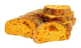 Feta und Tomate Ciabatta-Brot stockbild