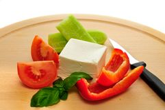 Feta and vegetables Stock Photo