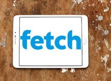 Fetch TV logo. Logo of Fetch TV on samsung tablet. Fetch TV is an Australian IPTV provider that delivers a subscription television service over a user`s regular royalty free stock image