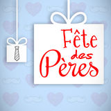 Fete de peres message. On blue background Stock Photography