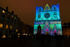 Fete des Lumieres 2014 Royalty Free Stock Images