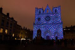 Fete des Lumieres 2014 Royalty Free Stock Photography