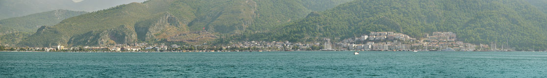 Fethiye (Ancient Thelmessos) whole town panorama Stock Images