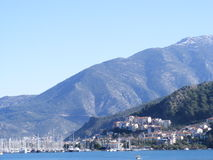 Fethiye Bay. A view of the harbour in Fethiye, Southwest Turkey Stock Photo