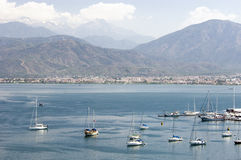 Fethiye Bay in southern Turkey Royalty Free Stock Images
