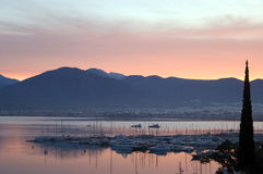 Fethiye Bay Turkey. Sunset over Fethiye Bay, Mugla Province, Aegean region of Turkey Royalty Free Stock Image