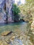 Fethiye est une vallée verte avec de l'eau l'eau glacée, Mugla, Turquie photo stock