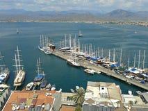 Fethiye harbour, Turkey Stock Photography