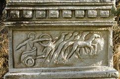 Fethiye indyk baryton przedstawia Romańskiego rydwan rysującego cztery koniami, Obrazy Royalty Free