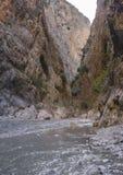Fethiye indyk jar saklikent rzeka przy dnem jar Zdjęcia Stock
